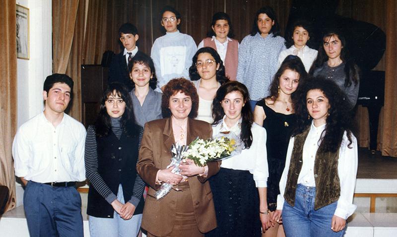 С учениками в Аполлонио Одио